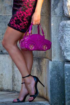borsa pvc - carina bag - purple bag