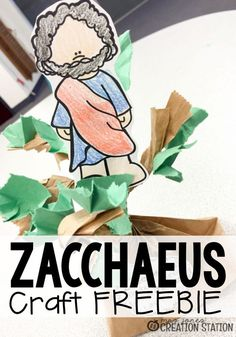 The story of Zacchaeus is a wonderful Bible story to help teach children kindness. He was a man no one really liked but Jesus went to his house. Come grab this free printable Bible craft to go along with your next lesson about Zacchaeus. Bible Story Crafts, Bible School Crafts, Bible Crafts For Kids, Vbs Crafts, Preschool Activities, Hero Crafts, Preschool Bible Crafts, Jesus Crafts, Kids Bible Stories