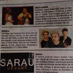 Show de domingo da Banda Aticos e da Banda Hertz no Diario da Região #Aticos #Hertz #RioPreto
