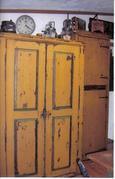 Mustard colored cabinet (1) From: Picture Trail, please visit