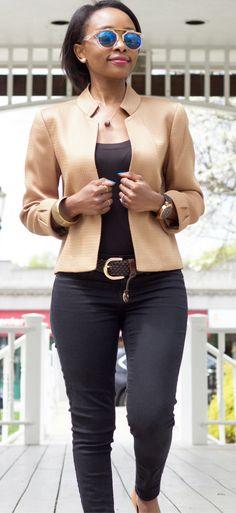 Hot Fashion Find: Bronze Blazer via @spoonsstilettos