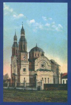 Timisoara - 1916 - Biserica Ortodoxă Română cu hramul Sf. Ilie, construită între 1911-1912 Sf, Iglesias, Hungary, Barcelona Cathedral, Taj Mahal, Building, Places, Travel, Cathedrals
