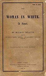 The Woman In White-The Woman in White is an epistolary novel written by Wilkie Collins in 1859, serialized in 1859–1860, and first published in book form in 1860. It is considered to be among the first mystery novels and is widely regarded as one of the first (and finest) in the genre of 'sensation novels'.