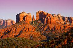 Sedona | Sunset on Cathedral Rock near Sedona, Arizona. | Richard Sutphen