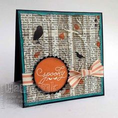 by Jan: Among the Branches, Typeset dsp, Black Glimmer Paper, Woodland embossing folder, & more - all from Stampin' Up!