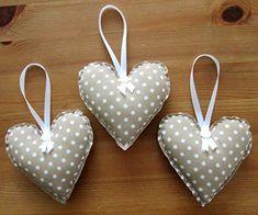 Shabby Chic Fabric Hanging //padded Heart