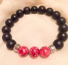 Beautiful Unisex Black Onyx Gemstone Beaded Bracelets with
