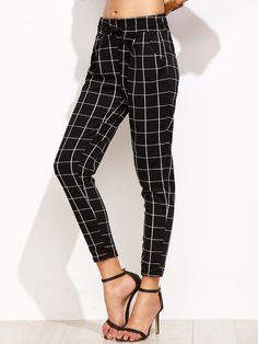 Shop Black Grid Print Drawstring Pants online. SheIn offers Black Grid Print Drawstring Pants & more to fit your fashionable needs.