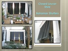 Use Bahamas Shutters To Create A Faux Window On A