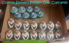 Frozen's Olaf Cupcakes