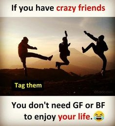 Zoi,qru,aish,mary, and many more crazy friends i have Crazy Friend Quotes, Crazy Girl Quotes, Funny Girl Quotes, Crazy Friends, Cute Love Quotes, Bad Friends, True Friends, Friends Forever, Best Friend Quotes Funny