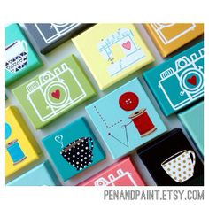 canvas paintings Cute!!!!!! Can personalize as gifts according to hobby or likes of recipient!!