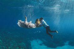 Ethereal Underwater Wedding Photos