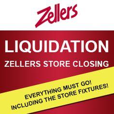 Zellers Store Closing Liquidation Sales  http://womenfreebies.ca/coupons/zellers-store-liquidation/