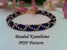 Beaded Kumihimo PDF pattern tutorial bracelet by ForCraftoLovers