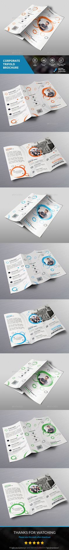 Corporate Trifold - #Corporate #Brochures Download here: https://graphicriver.net/item/corporate-trifold/19191144?ref=alena994