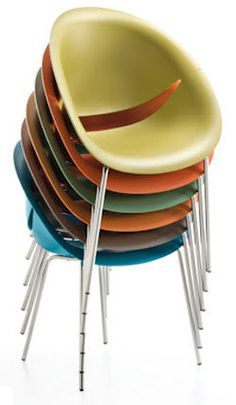 contemporary stacking chair SO HAPPY by Marco Maran MAXDESIGN