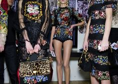 Dolce & Gabbana. The Sicilian Baroque collection was inspired by the grandiose extremes of 17th-century Sicilian architecture and decoration. Photo: Jason Lloyd-Evans
