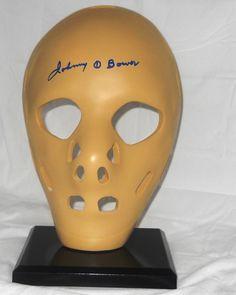 Johnny Bower Full Size Autographed Vintage Goalie Mask - A Classic Goalie Mask, Hockey Players, Scores, Masks, Marvel, Game, Classic, Vintage, Ebay