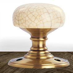 Delamain DK34ICFB Porcelain Mortice Knob Handles. #porcelainmorticedoorknob #porcelaindoorhandle #ballhandleporcelain