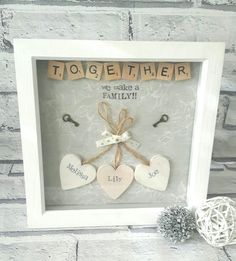 Check out this item in my Etsy shop https://www.etsy.com/uk/listing/500702198/personalised-scrabble-frame-gift-for