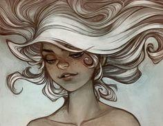 White hair, pert nose
