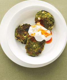 Vegetarian: Swiss Chard and Chickpea Fritters With Yogurt recipe