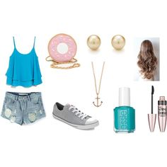abby should try and wear this by spirtgirl13 on Polyvore featuring MANGO, Converse, Minor Obsessions, Maybelline and Essie