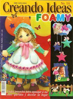 revista de manualidades - muñecas foamy