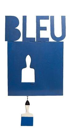 En vente dimanche 24 avril 2016 par Versailles Enchères à Versailles : Claude GILLI, « BLEU », vers 1965, acrylique sur bois découpé signé en bas au centre, 63,5 x 47,5 cm. Est. 5 000 - 6 000 euros.