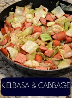Kielbasa & Cabbage - Gluten Free Dinner Keilbasa and Cabbage Gluten Free Dinner Quick Dinner Recipes, Entree Recipes, Quick Meals, Whole Food Recipes, Healthy Recipes, Keto Recipes, Keto Desserts, Healthy Foods, Keilbasa And Cabbage
