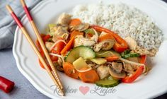Asian Recipes, Healthy Recipes, Goulash, Chinese Food, Cobb Salad, A Food, Chicken Recipes, Dinner Recipes, Rice