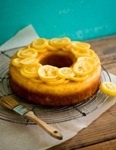 Triple Lemon Baba Cake