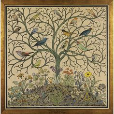 Birds of Many Climes (Textile design)