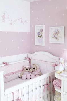 Colors for baby rooms: 48 ideas, photos and inspirations - Baby - BabyZimmer İdeen Baby Bedroom, Baby Room Decor, Nursery Room, Girl Nursery, Girl Room, Girls Bedroom, Nursery Decor, Baby Rooms, Nursery Ideas