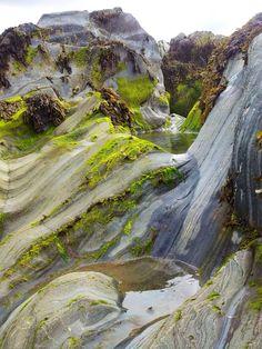 Rock puddles at Annagassan beach, Ireland