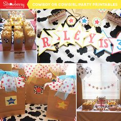 This Party Printable set is perfect for a Cowboy or Cowgirl party.