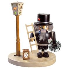 Glaesser Chimney Sweep with Light-Up Lantern Nutcracker