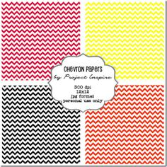 Free Printable Chevron Papers - The Girl Creative - includes updated download file 12/2013