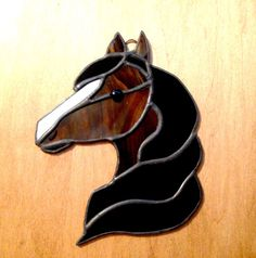 Stained glass horse horse decor western decor by SunDogArtAndGlass
