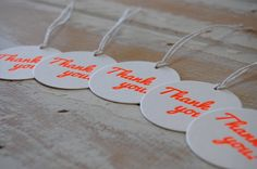 Image of 'Thank You' {Gift Tags} #1