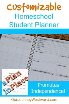 This student planner from APlanInPlace.net is customizable to meet your needs! $$$