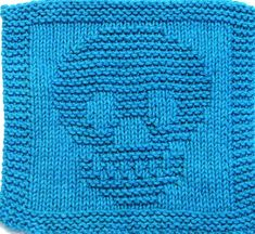 Ravelry: SKULL pattern by Ezcareknits Halloween Knitting Patterns, Crochet Skull Patterns, Knitted Dishcloth Patterns Free, Knitted Washcloths, Crochet Dishcloths, Knitting Patterns Free, Knitting Ideas, Mittens Pattern, Knitting Kits