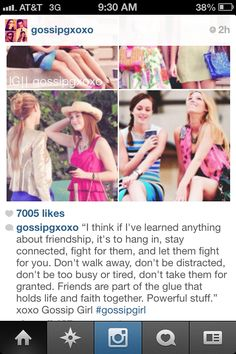 Serena and Blair with friendship quote
