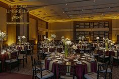 Texas State Illumni Gala 2016 | Yellow Uplighting, Pinspotting | Photo by Jerry Hayes Photography - www.jerryhayesphoto.com | by IntelligentLightingDesign