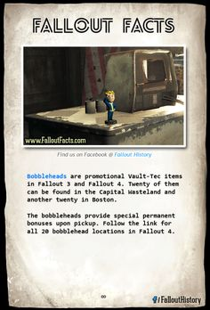 WARNING! SPOILERS if you follow this link.  fallout fallout 4 fallout bobblehead fallout bobbleheads vault boy