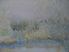 """""""An der Amper im Winter"""" von Emo Schuschnig gemalt"""