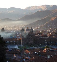 Early light over the centre of Cusco, Peru. Bolivia, Beautiful World, Beautiful Places, Amazing Places, Ecuador, Resorts, Places To Travel, Places To See, Places Around The World