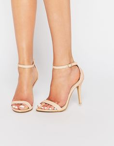 Image 1 of Glamorous Pink Snake Effect Barely There Sandals