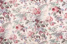 Antique Floral Fabric 1639092 Close Up stock photo 19419282 - iStock